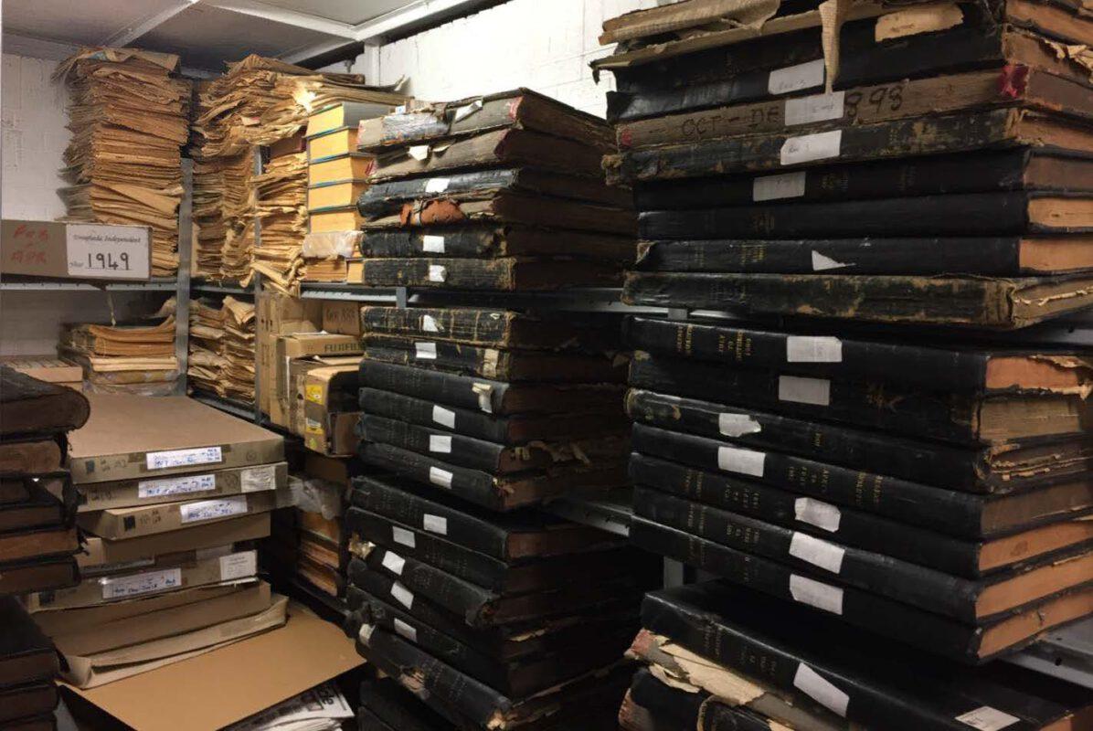 Zeitungsbände im Irish Newspaper Archives