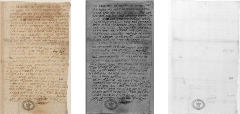 Sichtbarmachung von Schrift und Tinten mit dem book2net Multispektral System