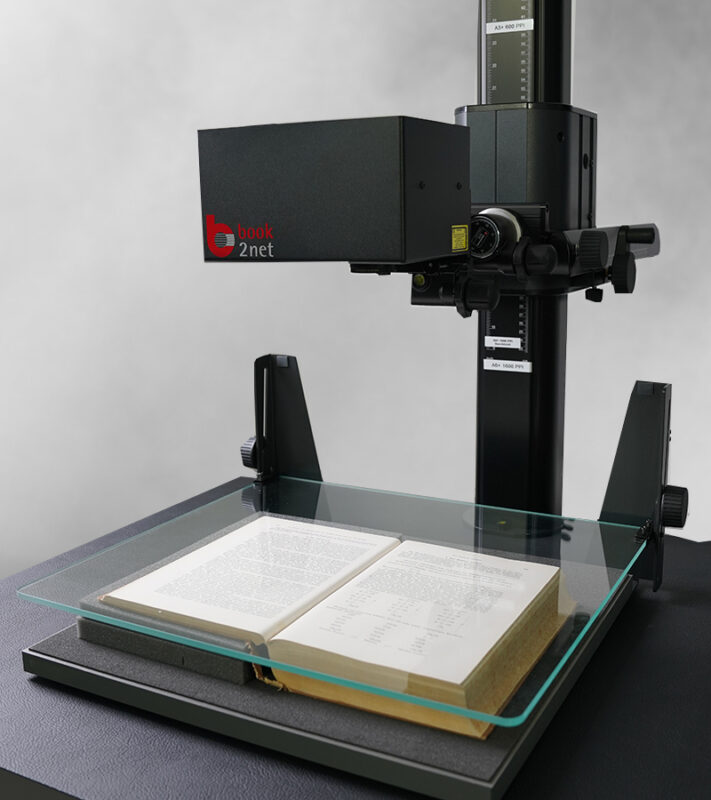 book2net repro stand with book support