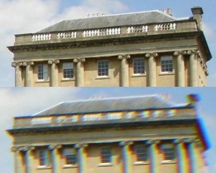 apochromatische Aufnahme eines Gebäudes